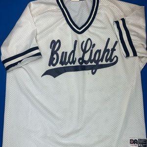 Bud Light Baseball Jersey Vintage Mens XL Beer